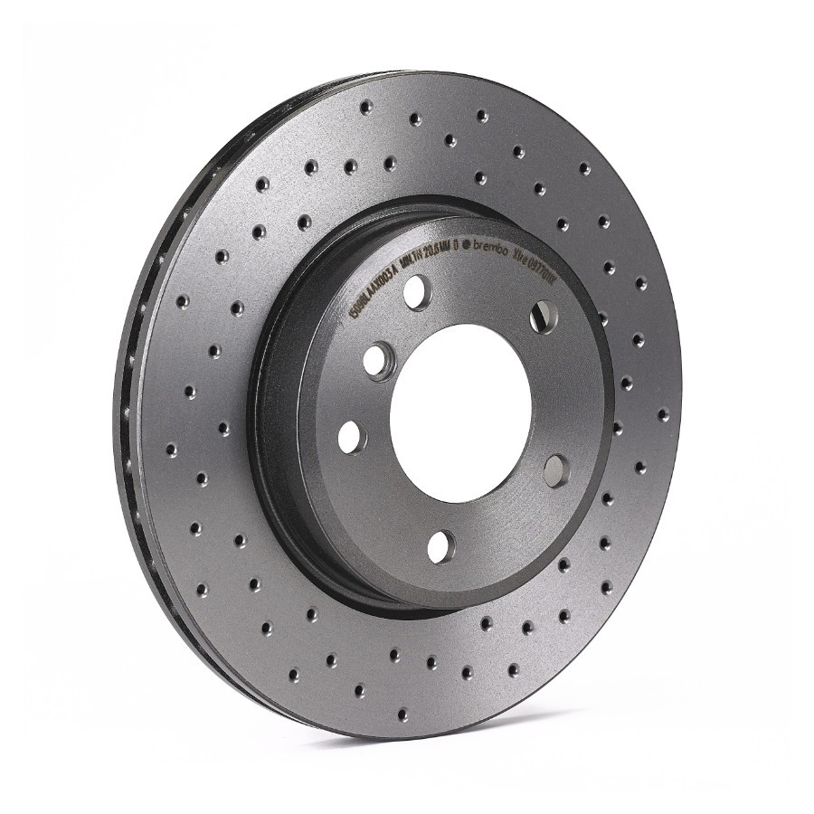 Brembo Xtra 08B4131X | Performance Brake Discs (rear) - VW Golf Scirocco, Audi A3