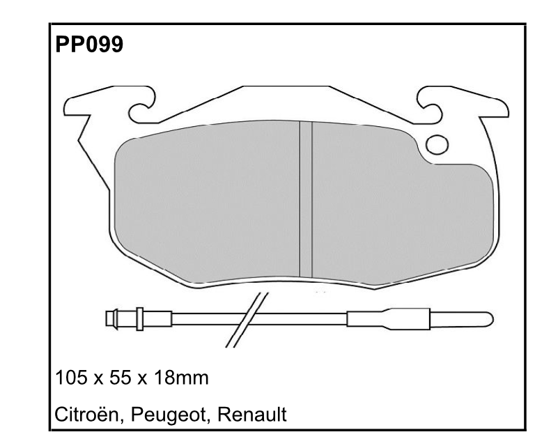 Black Diamond Predator Brake Pads Peugeot 205 (741A) 84-94 Front Set