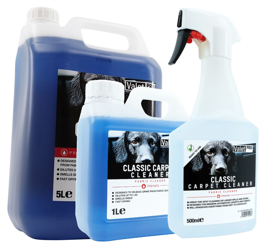 ValetPRO Classic Carpet Cleaner 5L, 1L, 500ml