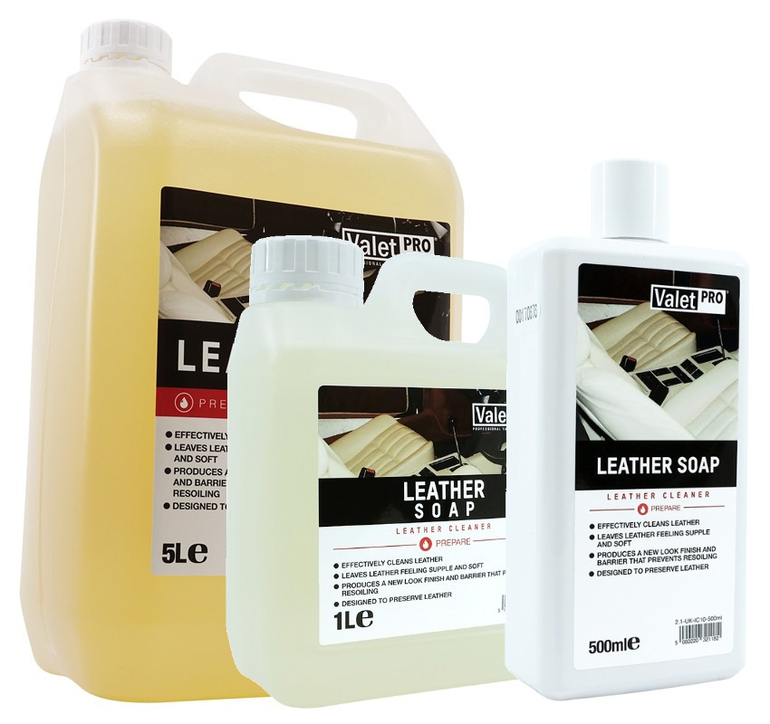 ValetPRO Leather Soap 5L, 1L, 500ml