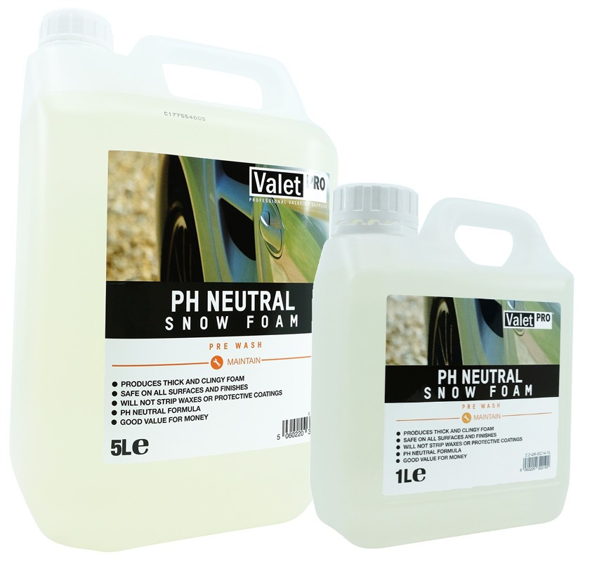 ValetPRO pH Neutral Snow Foam 5L, 1L
