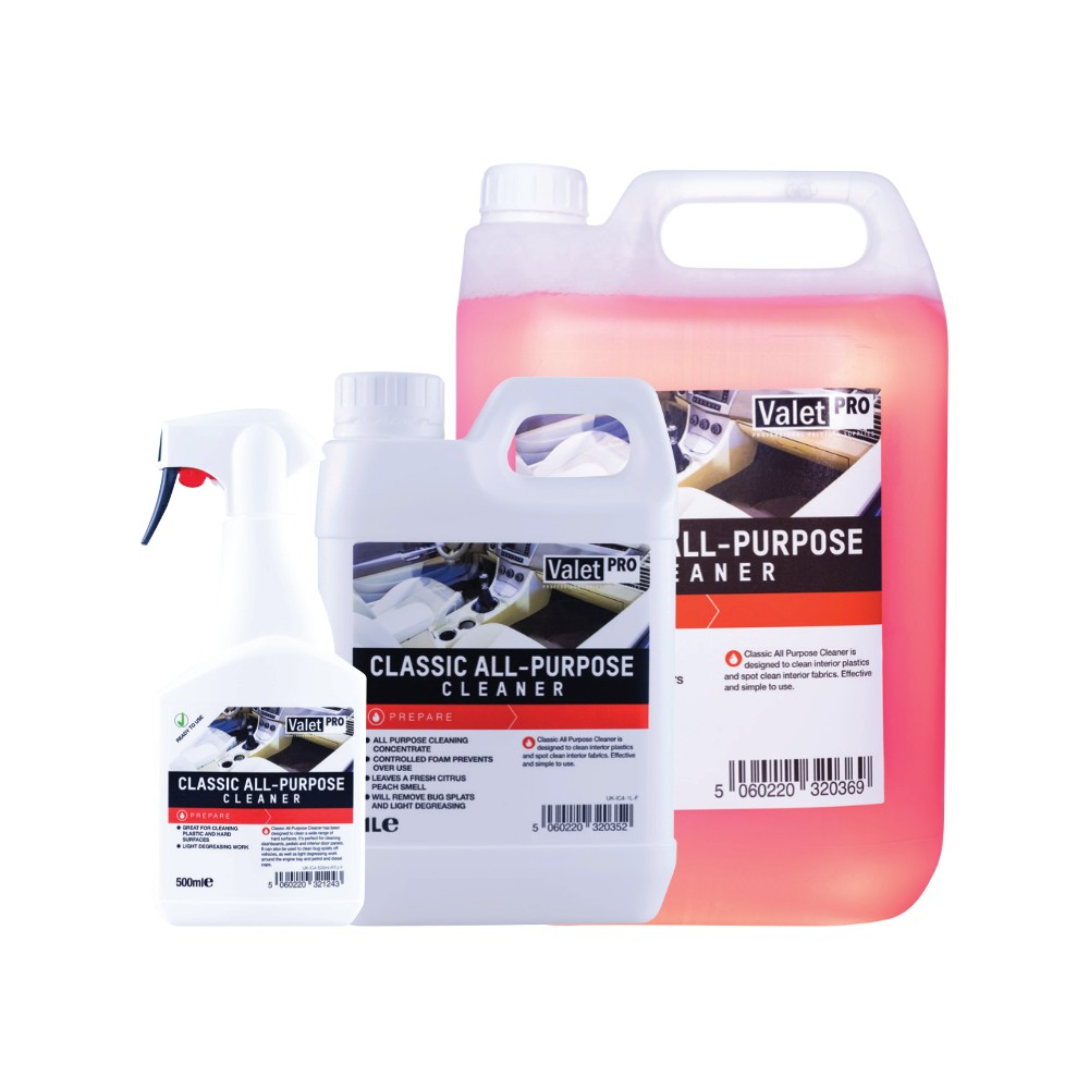 ValetPRO Classic All Purpose Cleaner 5L, 1L, 500ml