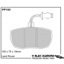 Black Diamond Predator Brake Pads Land Rover Defender Front Set