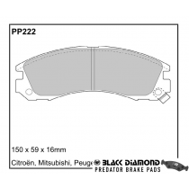 Black Diamond Predator Brake Pads Mitsubishi Lancer (88-96) 2/95-10/96 Front Set