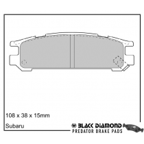 Black Diamond Predator Brake Pads Subaru Impreza (-00)8/96-12/97 Rear Set