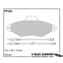 Black Diamond Predator Brake Pads Citroen Xantia Front Set