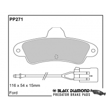 Black Diamond Predator Brake Pads Ford Mondeo Rear Set