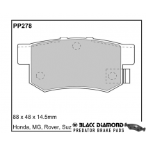 Black Diamond Predator Brake Pads Honda Civic Rear Set