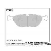 Black Diamond Predator Brake Pads VW Golf Front Set