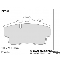 Black Diamond Predator Brake Pads Porsche Boxster Front Set