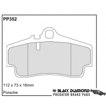 Black Diamond Predator Brake Pads Porsche Boxster Rear Set