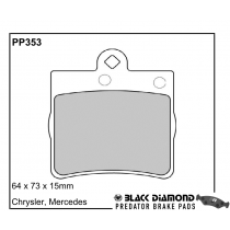 Black Diamond Predator Brake Pads Mercedes C-Class (W203/T203/C203) Rear Set