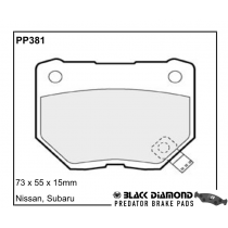 Black Diamond Predator Brake Pads Subaru Impreza Rear Set