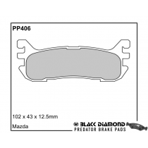Black Diamond Predator Brake Pads Mazda MX-5 Rear Set
