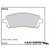 Black Diamond Predator Brake Pads Subaru Impreza (-00)8/96-12/97 Front Set