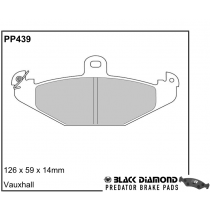 Black Diamond Predator Brake Pads Vauxhall VX220 (Opel Speedster)00 Rear Set