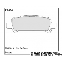 Black Diamond Predator Brake Pads Subaru Forester Impreza Legacy Rear Set