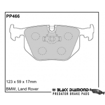 Black Diamond Predator Brake Pads BMW 3 Series Rear Set