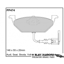 Black Diamond Predator Brake Pads VW Bora Front Set