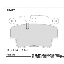 Black Diamond Predator Brake Pads Porsche 911 Front Set