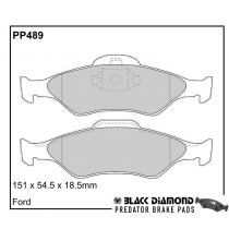 Black Diamond Predator Brake Pads Ford Ka (96-08)00-08 Front Set