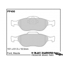 Black Diamond Predator Brake Pads Ford Fiesta Front Set