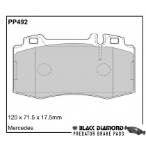 Black Diamond Predator Brake Pads Mercedes C-Class (W203/T203/C203) Front Set