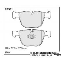 Black Diamond Predator Brake Pads BMW X5 Rear Set