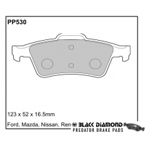 Black Diamond Predator Brake Pads Renault Megane II (02-09)43347 Rear Set