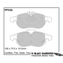 Black Diamond Predator Brake Pads Saab 9-3X Front Set