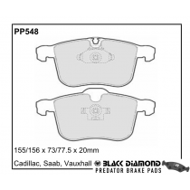 Black Diamond Predator Brake Pads Saab 9-3 Front Set