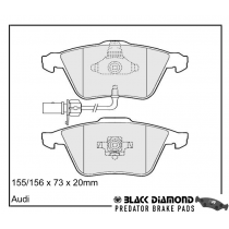 Black Diamond Predator Brake Pads Audi A6 Front Set