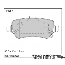Black Diamond Predator Brake Pads Vauxhall Astra Rear Set