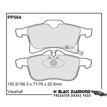 Black Diamond Predator Brake Pads Vauxhall Corsa Front Set
