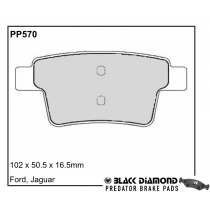 Black Diamond Predator Brake Pads Jaguar X-Type Rear Set