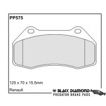 Black Diamond Predator Brake Pads Renault Clio Front Set