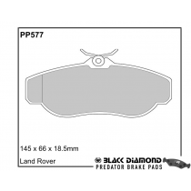 Black Diamond Predator Brake Pads Land Rover Range Rover Front Set
