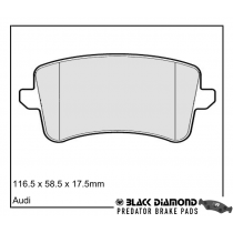 Black Diamond Predator Brake Pads Audi A5 Rear Set