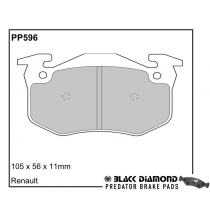Black Diamond Predator Brake Pads Renault Megane (95-02)8/95-02 Rear Set