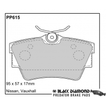 Black Diamond Predator Brake Pads Renault Trafic (14-)14 Rear Set