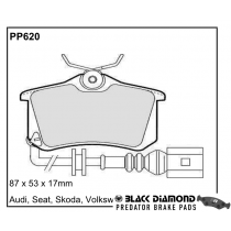 Black Diamond Predator Brake Pads Audi A3 Rear Set