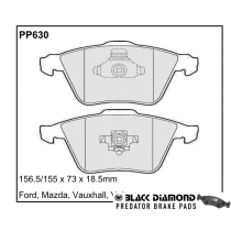Black Diamond Predator Brake Pads Ford Focus Front Set