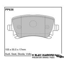 Black Diamond Predator Brake Pads VW Golf Rear Set