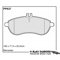Black Diamond Predator Brake Pads Mercedes-Benz E-Class Front Set
