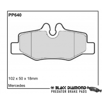 Black Diamond Predator Brake Pads Mercedes-Benz Vito Rear Set