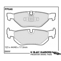Black Diamond Predator Brake Pads BMW 1 Series Rear Set