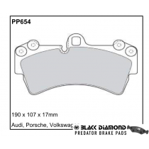 Black Diamond Predator Brake Pads VW Touareg Front Set