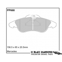 Black Diamond Predator Brake Pads Mercedes Lcv Vito (V-Class)(95-8/03)95-3/99 Front Set