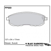 Black Diamond Predator Brake Pads Nissan Juke Front Set