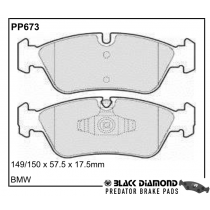 Black Diamond Predator Brake Pads BMW 3 Front Set